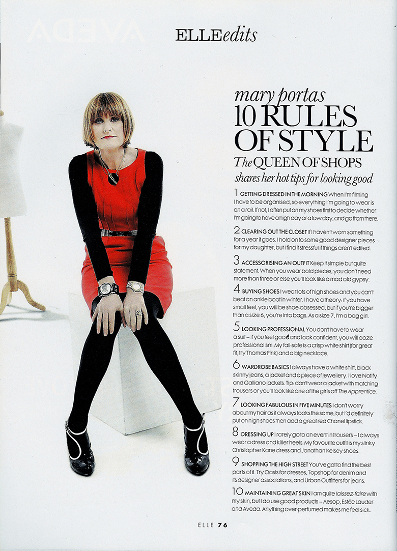 Mary Portas 10 Rules of Style