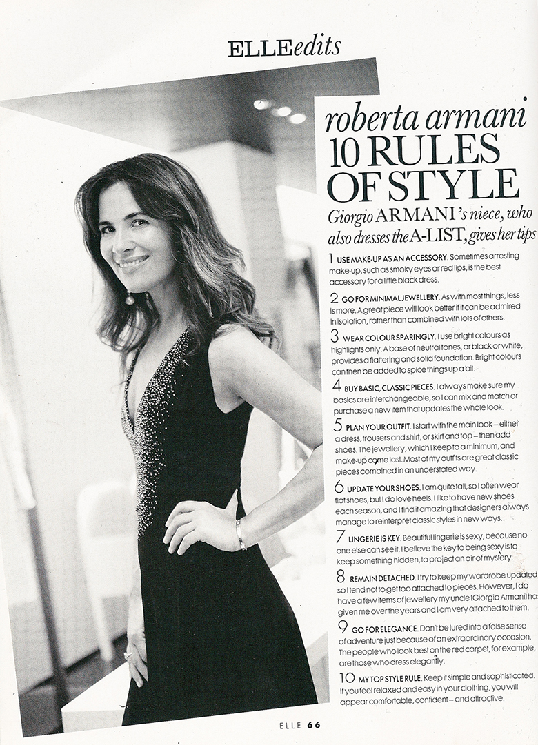 Roberta Armani 10 Rules of Style