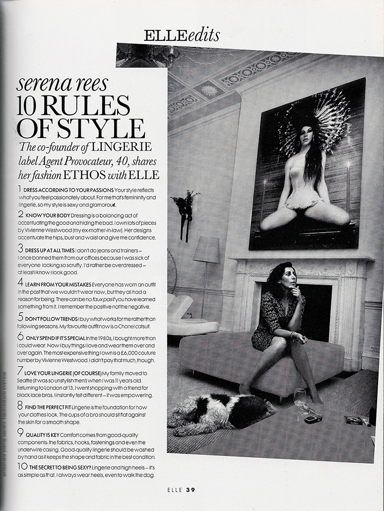 Serena Rees 10 Rules of Style