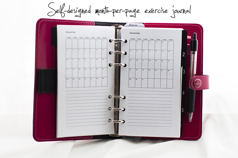 Filofax_month_per_page_exercise_journal