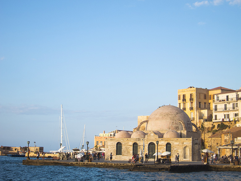 The venetian harbor in Chania