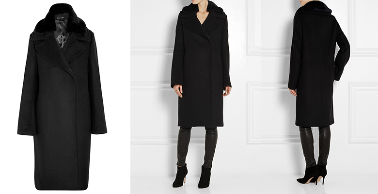 Acne Studio Era shearling-trimmed wool coat