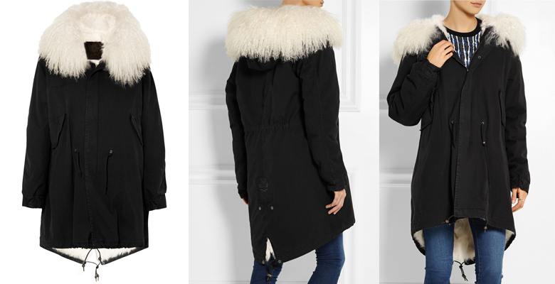 MR & MRS FURS shearling-lined cotton-canvas parka