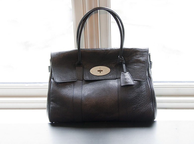 Before and after photos and comparison of the buffalo leather Mulberry Bayswater 3 1/2 years down the road: how does it age?