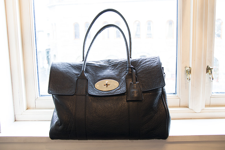 3 year old black buffalo skin Mulberry Heritage Bayswater c51f3d8da483d