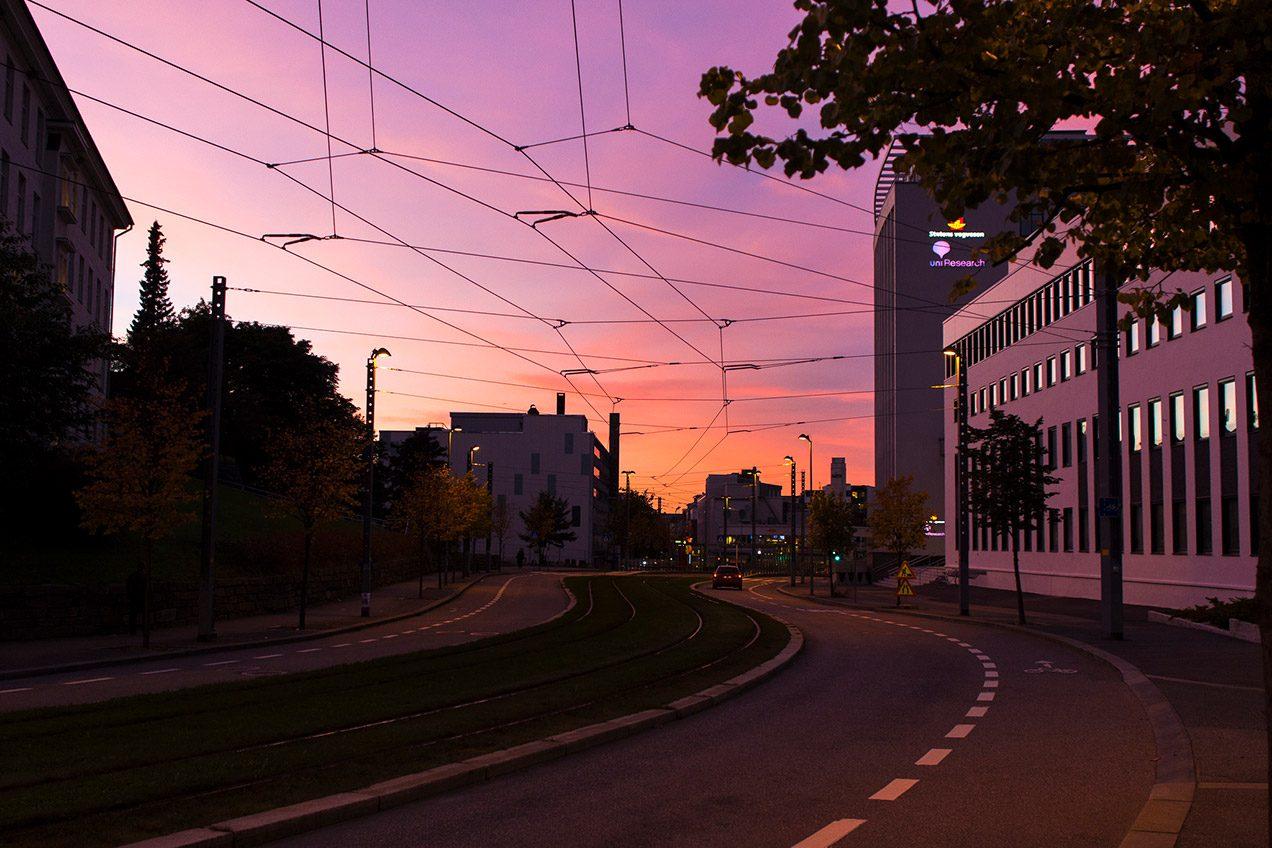 Sunset over Nygård, Bergen